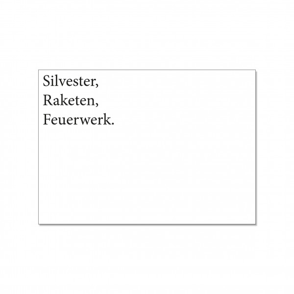 Postkarte quer, SILVESTER, RAKETEN, FEUERWERK