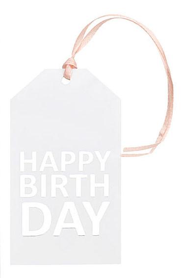 Set mit 3 Geschenkanhänger, HAPPY BIRTHDAY