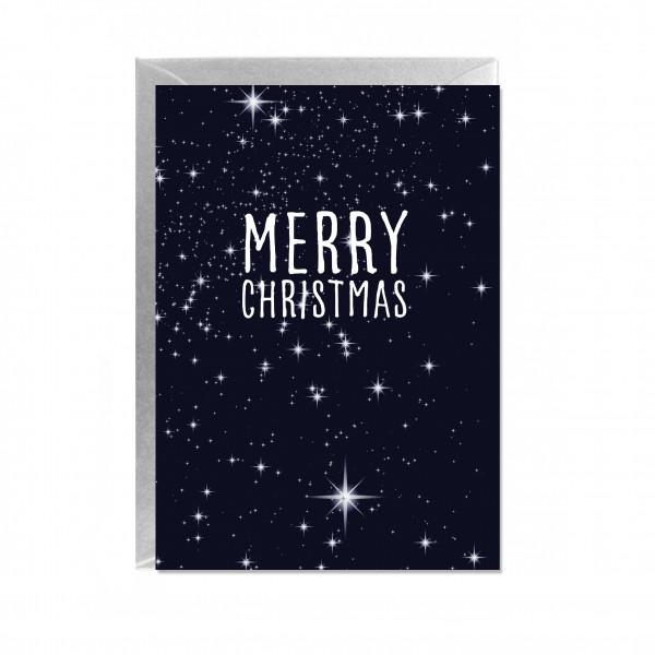 Faltkarte hoch, MERRY CHRISTMAS