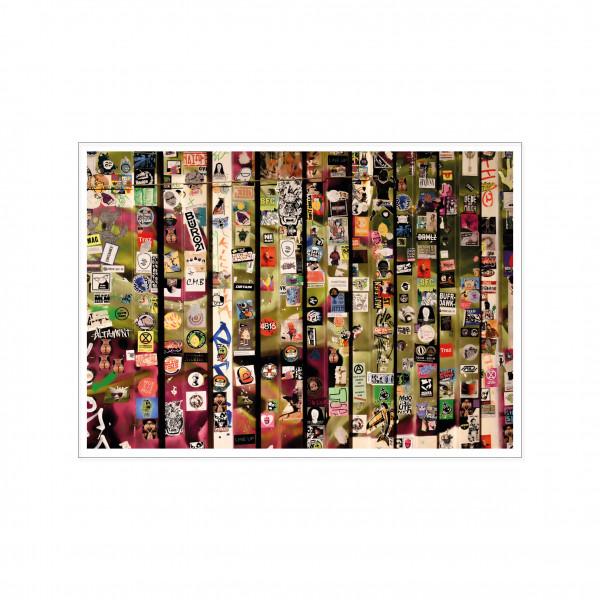 Postkarte quer, Streetart, STICKER