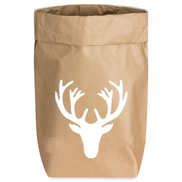 Paperbags Small natur, GEWEIH, weiss