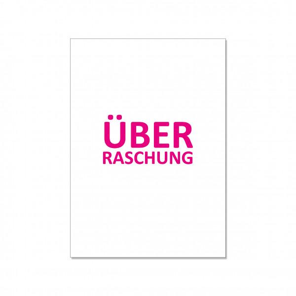 Postkarte hoch, ÜBERRASCHUNG, neon pink