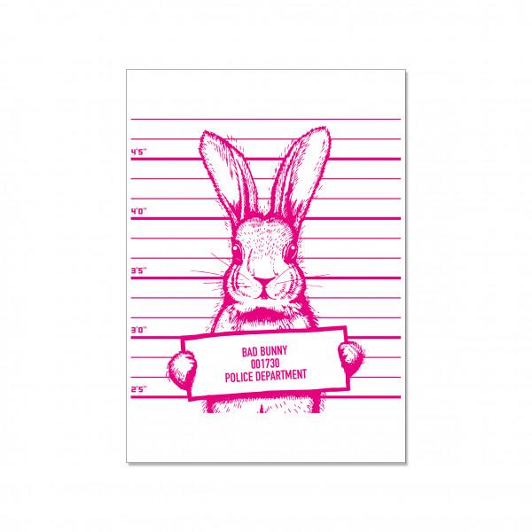 Postkarte hoch, BAD BUNNY 001730 POLICE DEPARTMENT