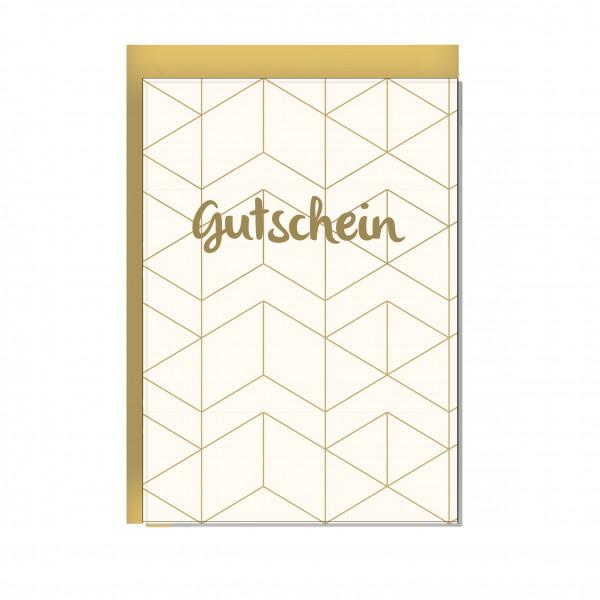 Faltkarte hoch, GUTSCHEIN