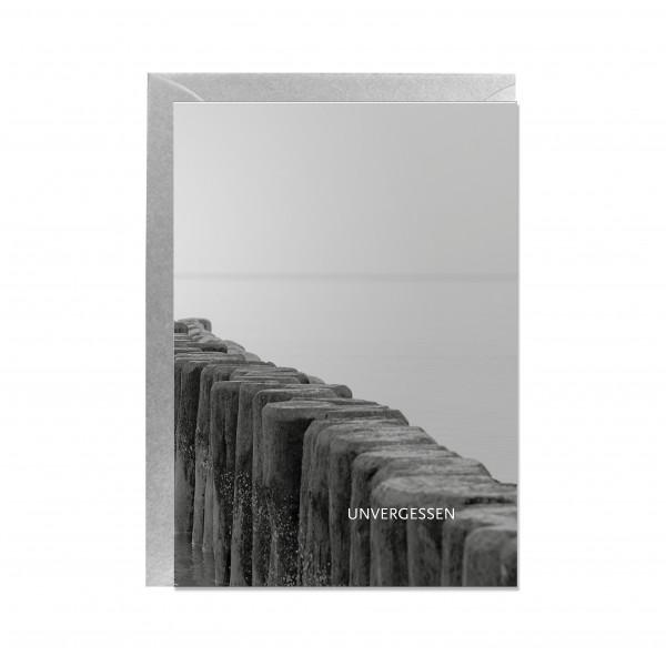 Faltkarte hoch, Blick aufs Meer