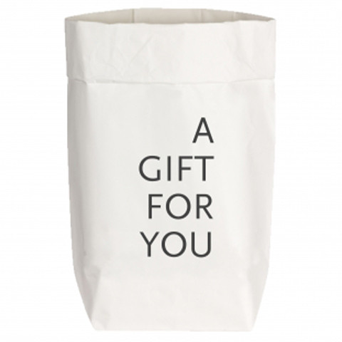 Paperbags Small weiss, A GIFT FOR YOU, grau