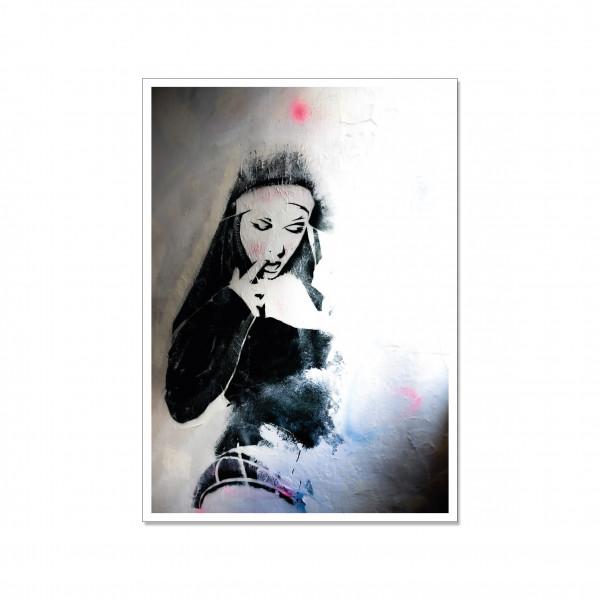Postkarte hoch, Streetart, SISTER ACT