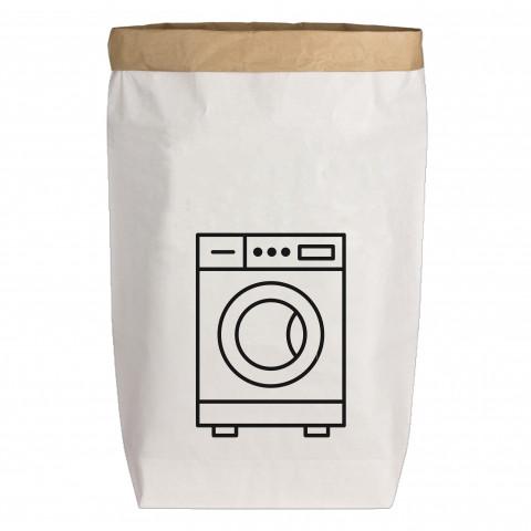 Paperbags Large weiss, WASCHMASCHINE, schwarz