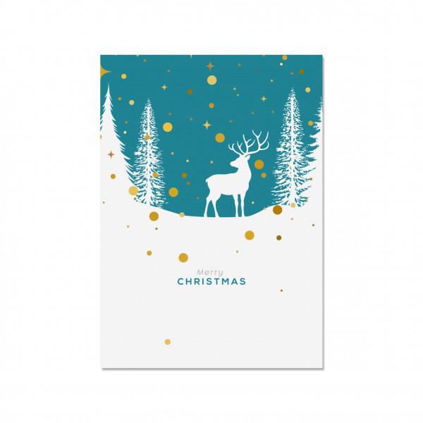 Postkarte hoch, MERRY CHRISTMAS (OH DEAR)