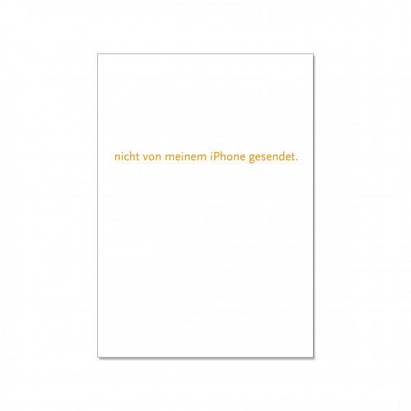 Postkarte hoch, NICHT VON MEINEM IPHONE GESENDET, orange