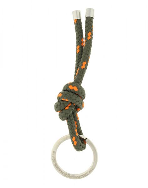 Schlüsselanhänger Knoten - OLIV-ORANGE