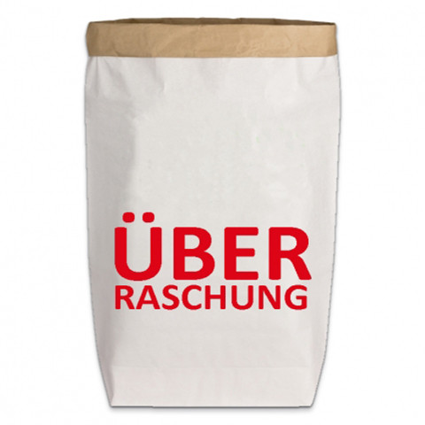 Paperbags Large weiss, ÜBERRASCHUNG, rot