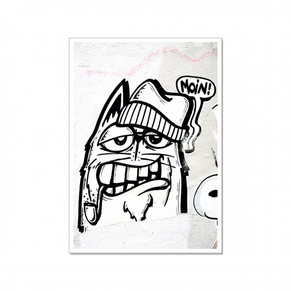 Postkarte hoch, Streetart, MOIN! KATZE