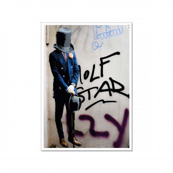 Postkarte hoch, Streetart, CYLINDER HEAD