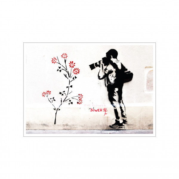 Postkarte quer, Streetart, PHOTOGRAPHER