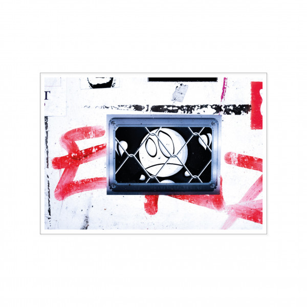 Postkarte quer, Streetart, PRISONED MAN