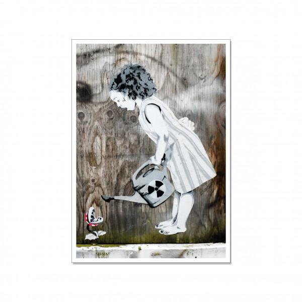Postkarte hoch, Streetart, FUKUSHIMA