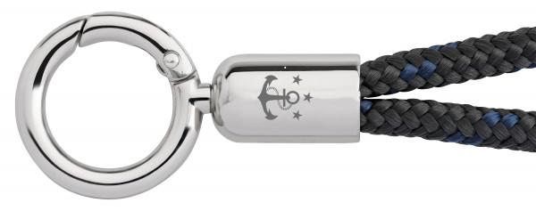 Schlüsselband Skipper (Ø 6MM) S, Tampen ANTHRAZIT-NAVY