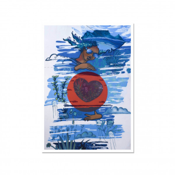 Postkarte hoch, Streetart, LOVE TO CARE