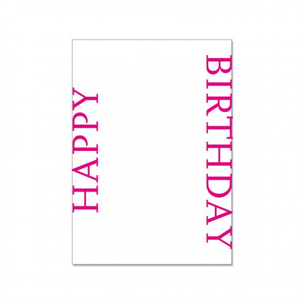 Postkarte hoch, HAPPY BIRTHDAY (UPSIDE DOWN)